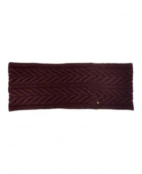 Hugo Boss Dark Brown Cable Style Snood
