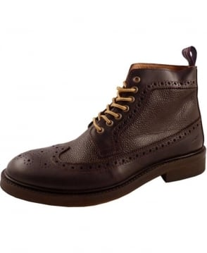 Gant Dark Brown Herman Brouge Boot