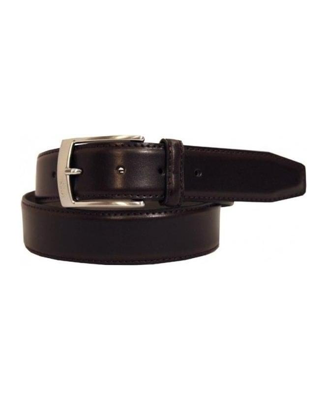 Hugo Boss Dark Brown Leather Belt