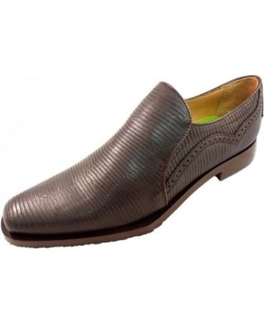 Oliver Sweeney Dark Brown Orfano Leather Shoes
