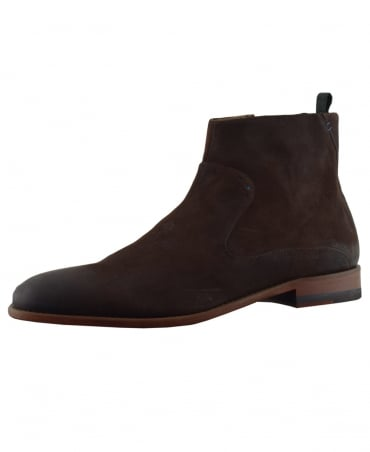 Dark Brown Sherborne Zip Up Chelsea Boots