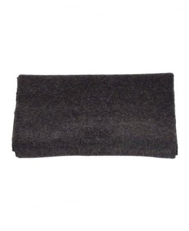 Hugo Boss Dark Grey Cashmere Scarf