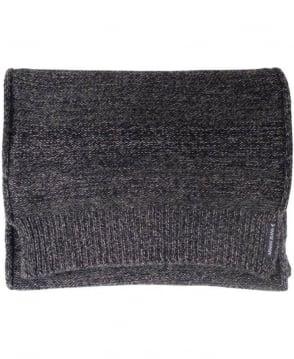 Armani Dark Grey Knitted Pattern 'Grigio Melange' B6419V1 Scarf