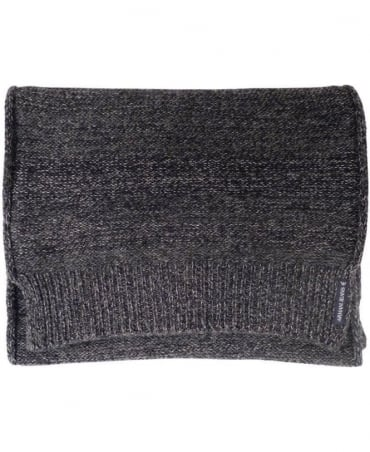 Dark Grey Knitted Pattern 'Grigio Melange' B6419V1 Scarf