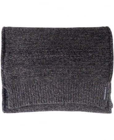 Armani Jeans Dark Grey Knitted Pattern 'Grigio Melange' B6419V1 Scarf