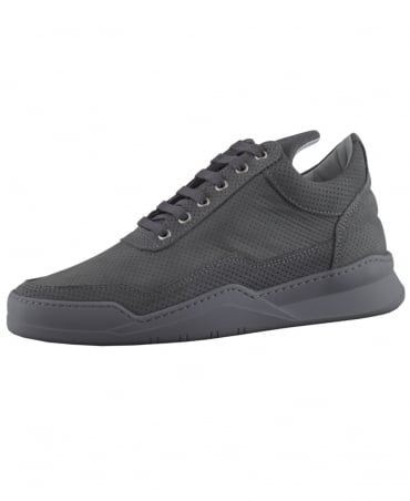Filling Pieces Dark Grey Low Top Ghost Microlane Trainers