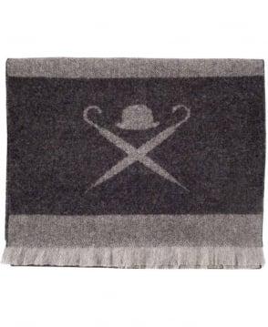 Hackett Dark Grey Merino & Cashmere Wool HM041257 Scarf