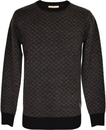Scotch & Soda Dark Grey Patterned Knitwear Jumper