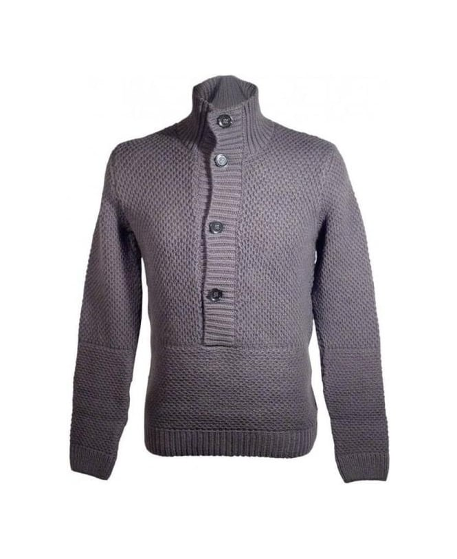 Hugo Dark Grey Syver Knit Jumper