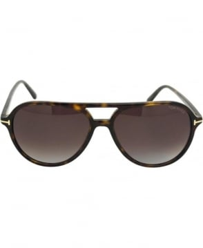 Tom Ford Dark Havana Jared 56P Tortoise Shell Sunglasses