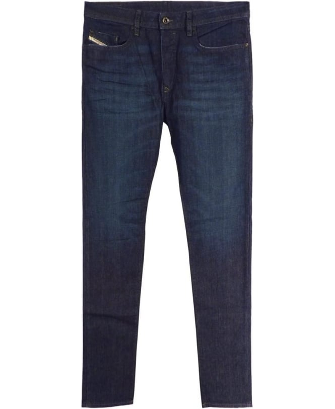 Diesel Dark Indigo 0844C Regular Slim Tapered Jeans