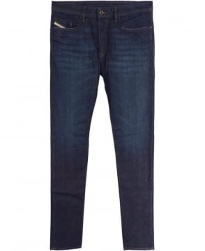 Diesel Dark Indigo 0844C Regular Slim Tapered Jeans