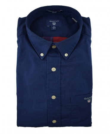 Gant Dark Indigo 3003930 Winter Double Face Check Shirt
