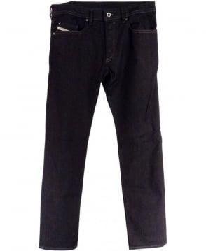 Diesel Dark Indigo Buster 0607A Regular Slim Taper Jeans