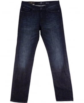 7 For All Mankind Dark Indigo Slimmy Ladark Slim Fit Jeans