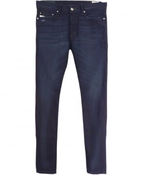 Diesel Dark Indigo Tepphar 0845B Stretch Slim Carrot Jeans