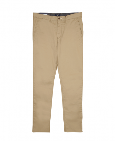 Dark Khaki Regular Fit Twill Chinos