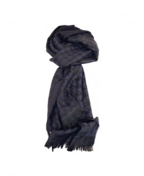 Hugo Boss Dark Navy & Black Houndstooth Peblo 50248650 Scarf