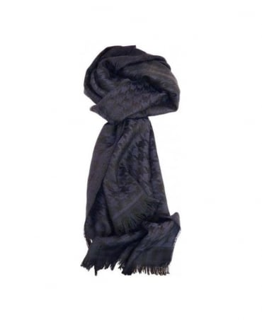 Dark Navy & Black Houndstooth Peblo 50248650 Scarf