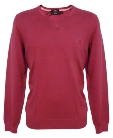 Hugo Boss Dark Pink Barnabas Knitwear 50262276 Jumper
