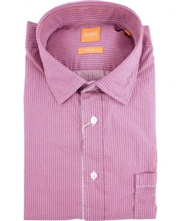 Hugo Boss Dark Pink EslimE Shirt