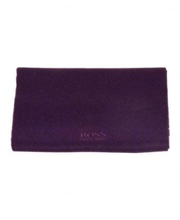 Hugo Boss Dark Purple Cashmere Scarf