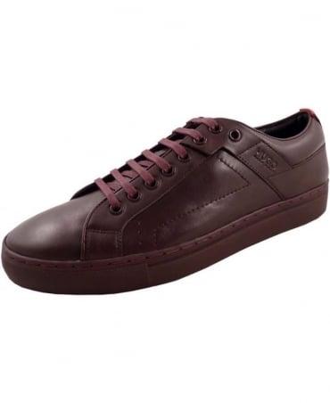 Hugo Dark Red 50238501 Futesio Leather Trainer