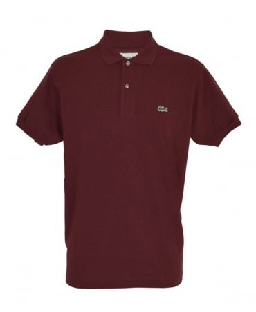 Lacoste Dark Red Marl Classic Fit L1264 Polo