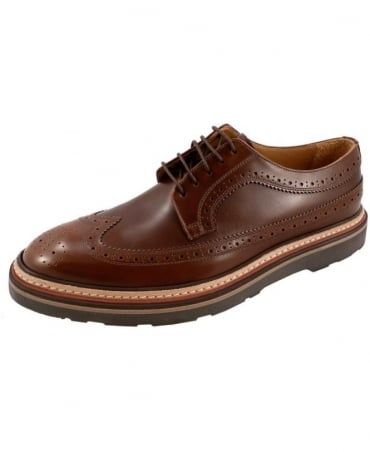 Paul Smith - Shoes Dark Tan Grand SNXC-P110-CSO Brogue Shoe