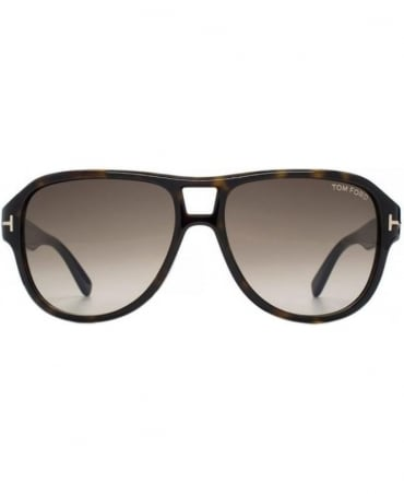 Tom Ford Dark Tortoise Shell Dylan Aviator Sunglasses