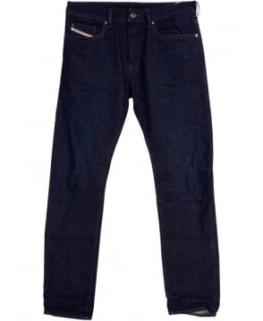 Diesel Dark Wash Buster 0823K Regular Slim Tapered Jeans