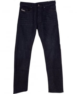 Diesel Dark Wash Buster 0845G Stretch Regular Slim Tapered Jeans