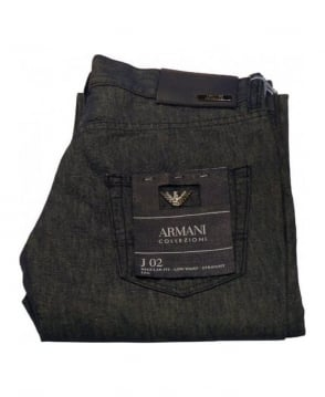 Armani Collezioni Dark Wash Light Weight J02 Jeans