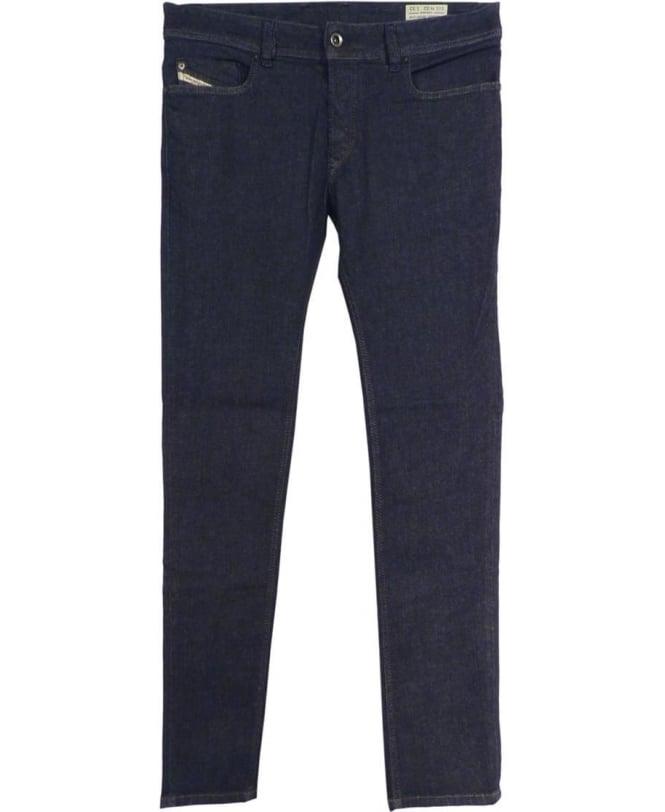 Diesel Dark Wash Sleenker 0849D Slim Skinny Jeans