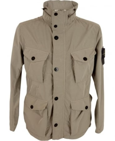 Stone Island David Tela Light-TC Jacket In Stone