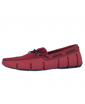 Swims Deep Red/Navy Braided Lace Loafer