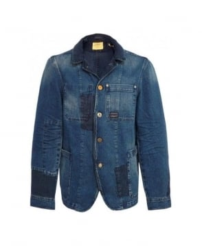 Scotch & Soda Denim Blue 30307 Patch Detail Blouson