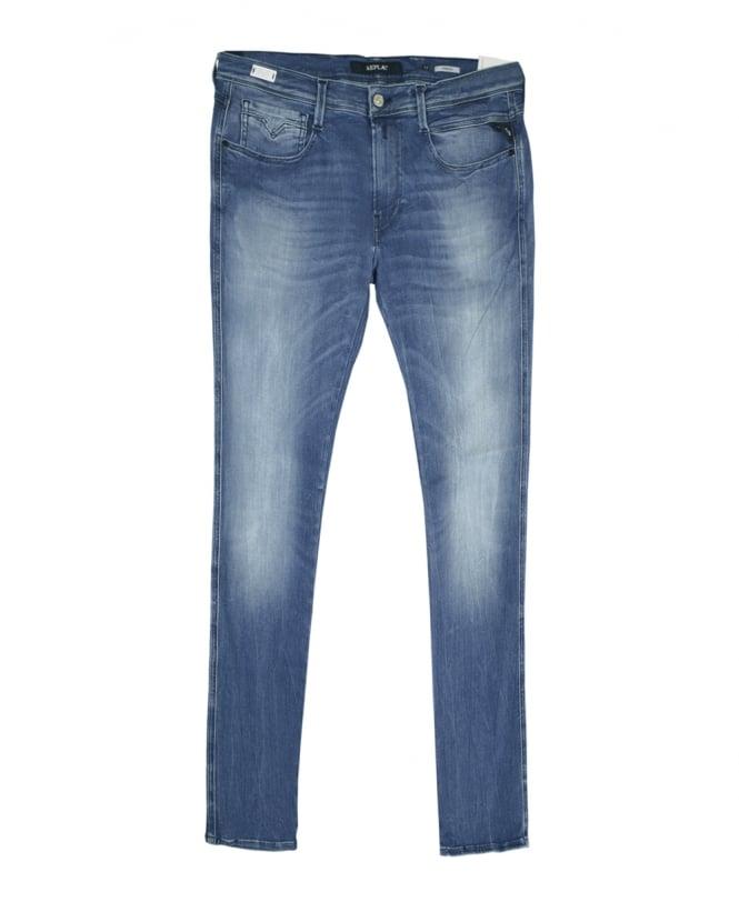 Hyperflex Slim Denim Blue Jeans Anbass Fit edCBorx