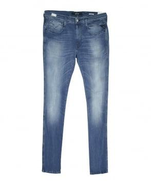 Replay Denim Blue Hyperflex Anbass Slim Fit Jeans