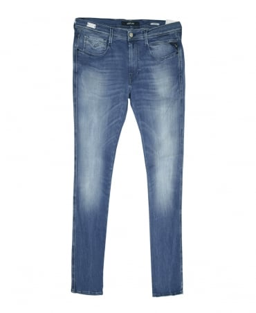 Replay Denim Blue Hyperflex Anbass Slim Fit Jeans