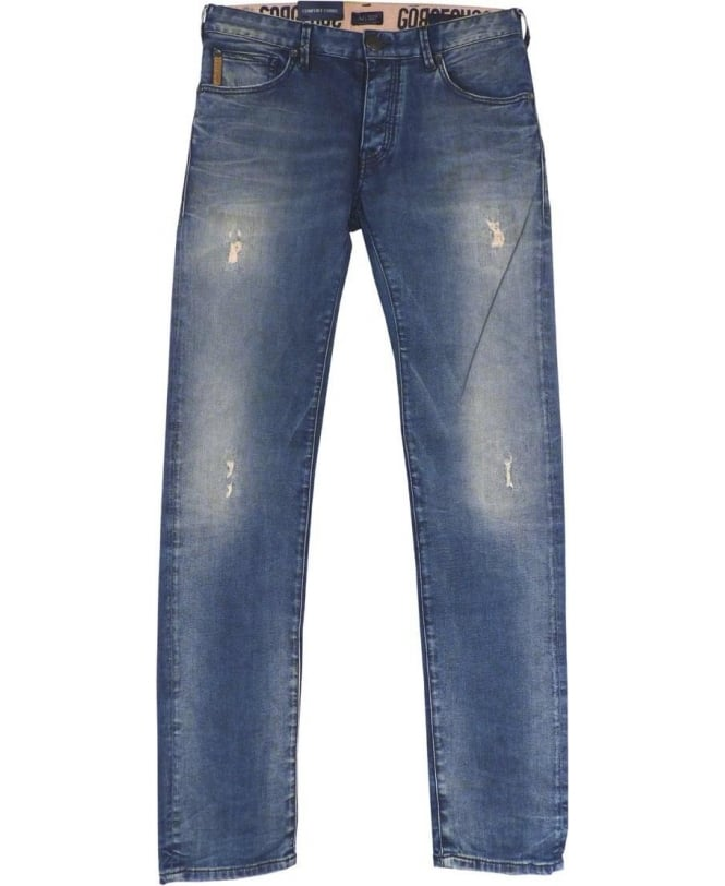 Armani Denim Blue Slim Fit Low Waist J28 Jeans