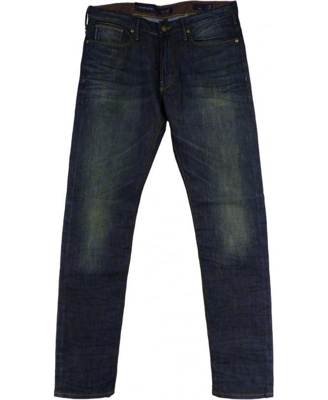 Armani Denim Blue Slim Fit Low Waist Jeans
