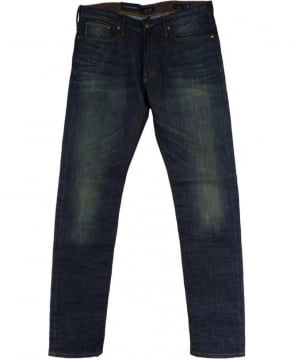 Armani Jeans Denim Blue Slim Fit Low Waist Jeans