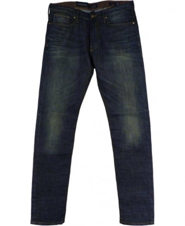 Armani Denim Blue Slim Fit Low Waist Jeans