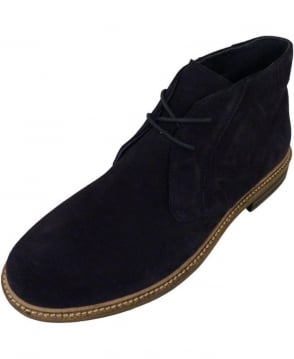 Hackett Desert Boots In Navy Suede