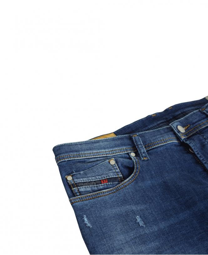 0909e83a Blue Tepphar Slim Fit Ultrasoft Denim Light Distress Jeans