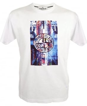 Stone Island 'Digital Pin' T-shirt In White