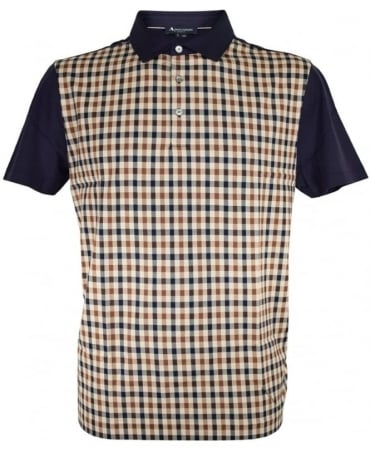Aquascutum Dillon Club Check Vicuna Polo Shirt