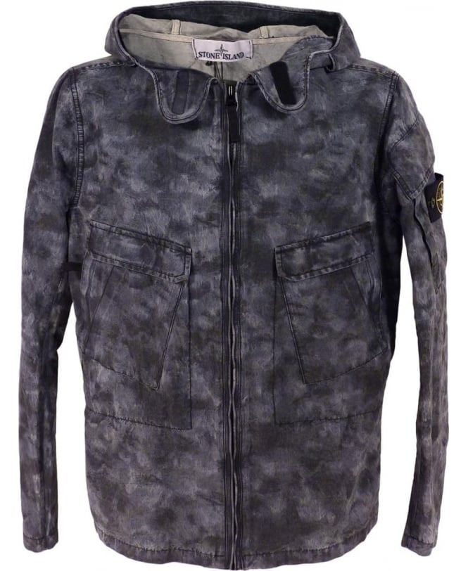 Stone Island DPM Jacquard Plated Jacket In Grey