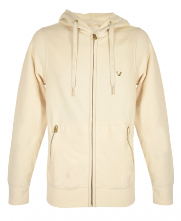 Dune Drawstring Hooded Full Zip Sweatshirt